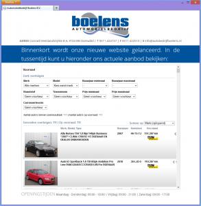 Screenshot van Wheelerdelta standaardmodule